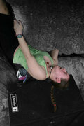 Rock Climbing Photo: Nicole on overlooked... my favorite problem in NH....