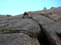 Rock Climbing Photo: John Tormalehto choppin' 'em down.   8-9-08.