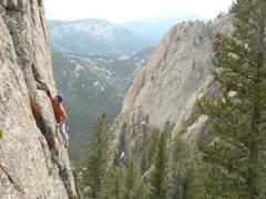 Rock Climbing Photo: Nate A, freesolo, on the FA.   4-20-07.
