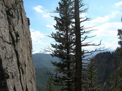 Rock Climbing Photo: Scott Kimball on the 2nd ascent.   4-28-07.