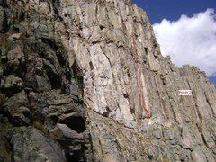 Rock Climbing Photo: Pitch #2. 5.10a.