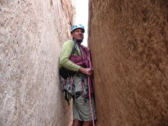 Rock Climbing Photo: My dad in the Time Tunnel!