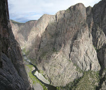 Rock Climbing Photo: Looking upstream from half way up Journey Through ...