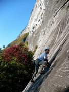 Rock Climbing Photo: Mike on the first pitch of the O.R., Whitesides.
