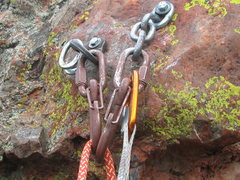 Rock Climbing Photo: New Fixe anchors courtesy of NM Crag