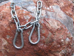 Rock Climbing Photo: Old chain and snap-links