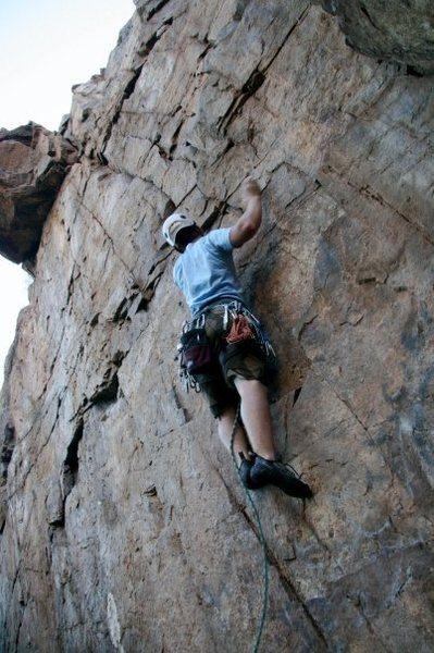 Rock Climbing Photo: Kraig on the Bonita 5.9