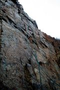 Rock Climbing Photo: Top rope setup on the Bonita 5.9