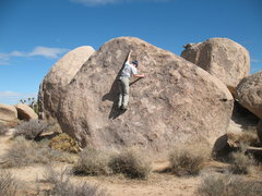 Rock Climbing Photo: Will nearing the top of Whole Grain Goodness (V2),...