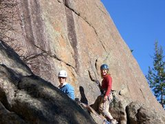 "Rock Climbing Photo: Anna ""Doc"" Thomas and Sonya."