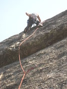 Rock Climbing Photo: pulling the small roof
