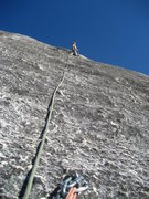 Rock Climbing Photo: On the second pitch of Bit by Bit.