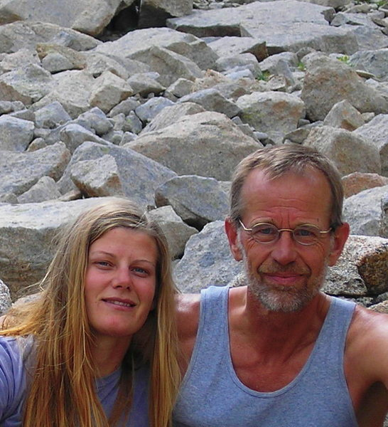 Saba & Dad, base of Spearhead, July 2008