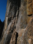 Rock Climbing Photo: Sadowsky going for the link-up.