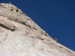Rock Climbing Photo: 'Joe' high up on Frictional Character.