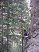 Rock Climbing Photo: Robby opening up MM.