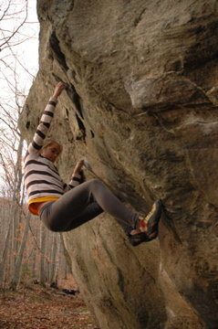 Rock Climbing Photo: Rachel on Child Prodigy - Arlin Goss photo