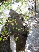 Rock Climbing Photo: The SE Ridge goes up the left hand facet, in the s...