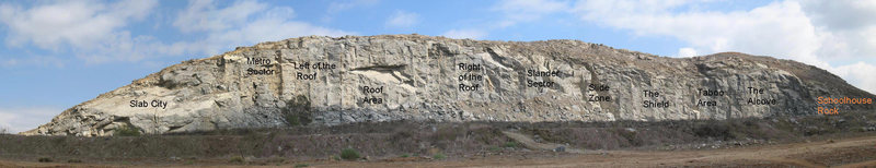 Rock Climbing Photo: Riverside Quarry overview showing the various sect...