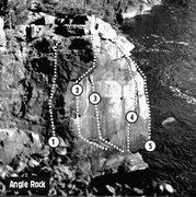 Rock Climbing Photo: Angle rock south side