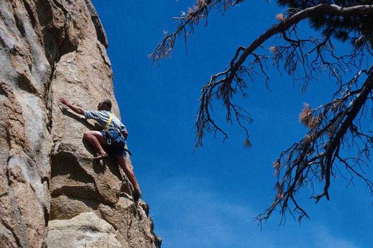 Anthony Vanleeuwen enjoys stellar granite at Castle Rock.
