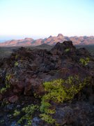 Rock Climbing Photo: Looking out at Hart Peak from Malpais Spring.   I'...