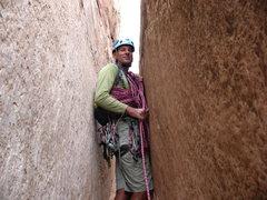 Rock Climbing Photo: squeezing through time