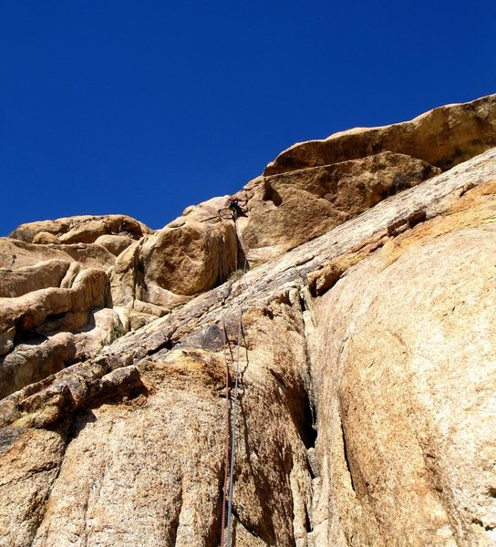 Jonny just after firing up the fun roof move. This climb was a blast!