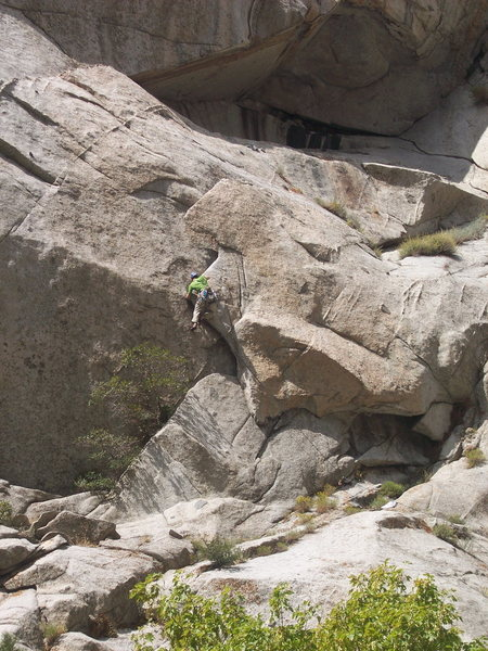 Rock Climbing Photo: Rob freakin the creep