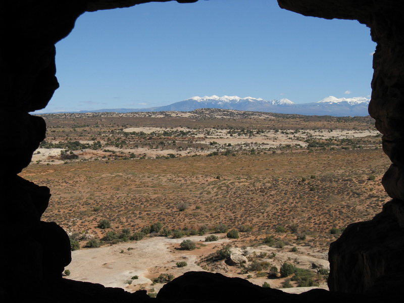 "Rock Climbing Photo: Looking through the ""window"" at the star..."