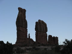 Rock Climbing Photo: Echo Pinnacle is the tallest tower on the left.