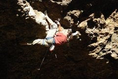 Rock Climbing Photo: Starting the lip traverse