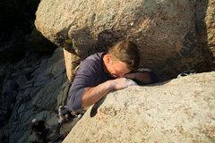 Rock Climbing Photo: Josh sending the Umph Slot.
