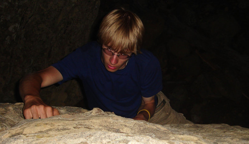 Rock Climbing Photo: Some boulders I found backpacking in New Mexico