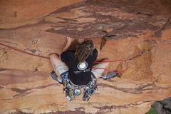 Rock Climbing Photo: Josh Merriam froggin' across.