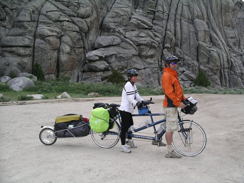 Couple we met at the campgorund, travelling and climbing by bike