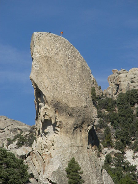unknown climbers on top of ? at city of rocks