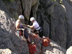 Rock Climbing Photo: Rapping from the top of Steinfell's Dome