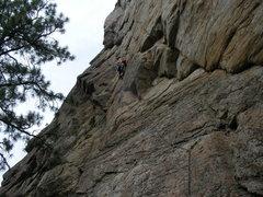 Rock Climbing Photo: alysha on the raven and the bear - skaha