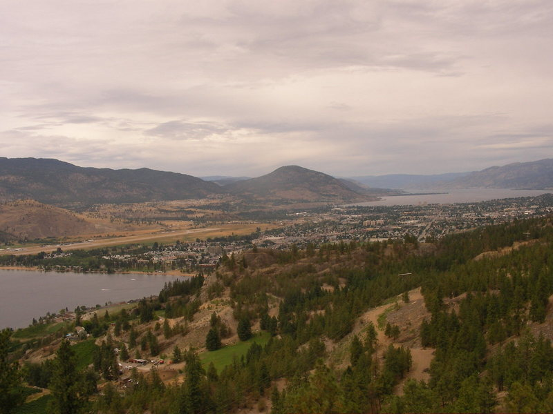 penticton from the top of assholes of august
