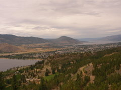 Rock Climbing Photo: penticton from the top of assholes of august