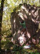 Rock Climbing Photo: Squeeze!