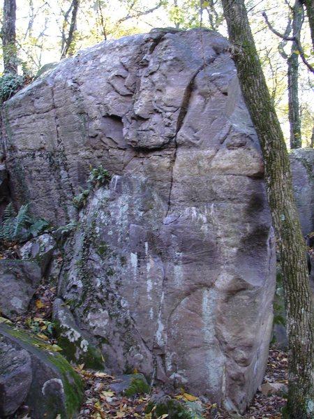 Rock Climbing Photo: Flakes.