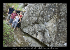 Rock Climbing Photo: Group photo from Laclede @ a pretty badass boulder...