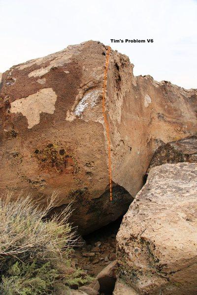 Rock Climbing Photo: Tim's Problem Boulder Topo