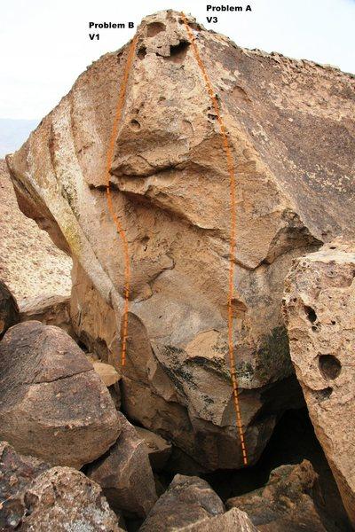 Big Arete Boulder North West Arete Topo