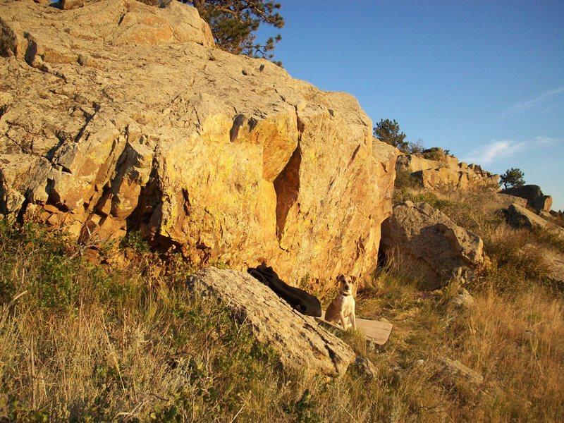 The Burnt Orange Boulder.