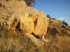 Rock Climbing Photo: The Burnt Orange Boulder.