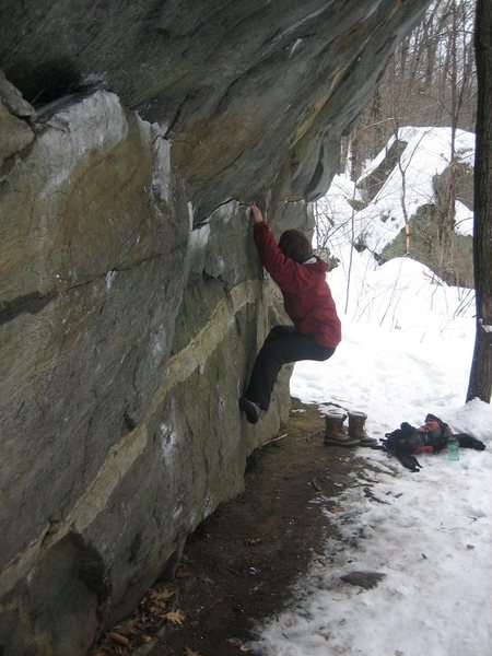 Winter Traverse of Umbrella Boulder