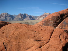 Rock Climbing Photo: The top of Sweet Pain (middle right) in front of R...